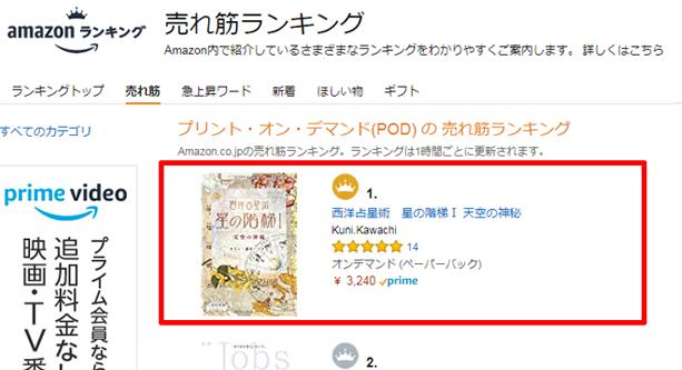 売れ筋ランキング第1位(POD)